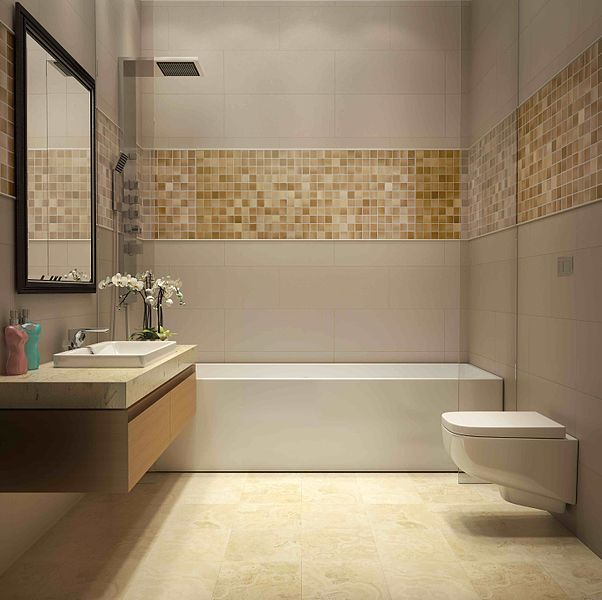 lustrzana mozaika do łazienki