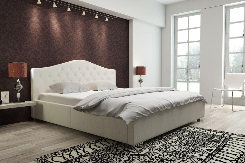 łóżka do sypialni z pojemnikiem na pościel